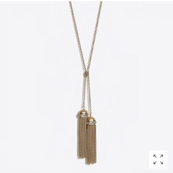 J Crew Factory double tassel necklace